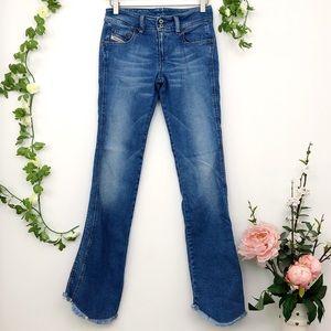 Diesel vintage denim jeans distressed hi-lo bottom